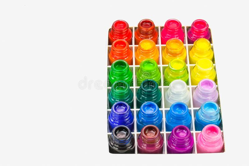 poster color is a water paint type stock images