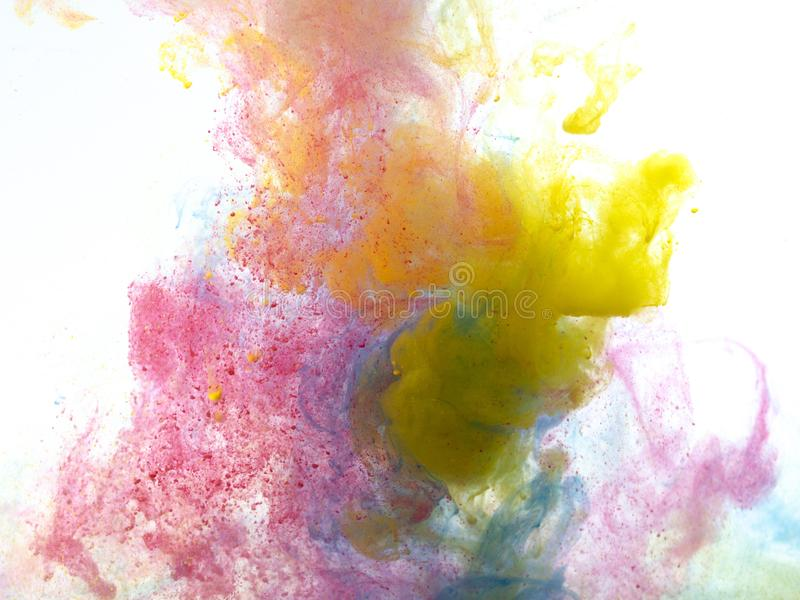 Poster color in water. Abstract background royalty free stock photography