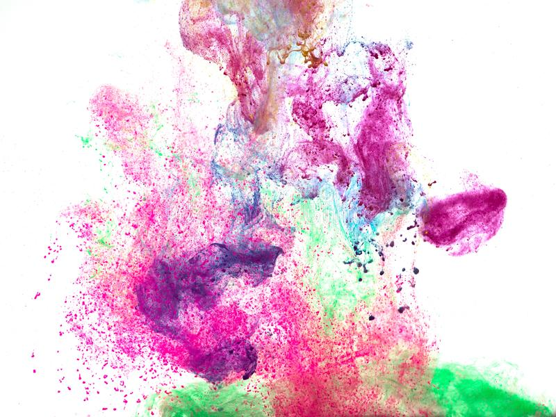 Poster color in water stock images