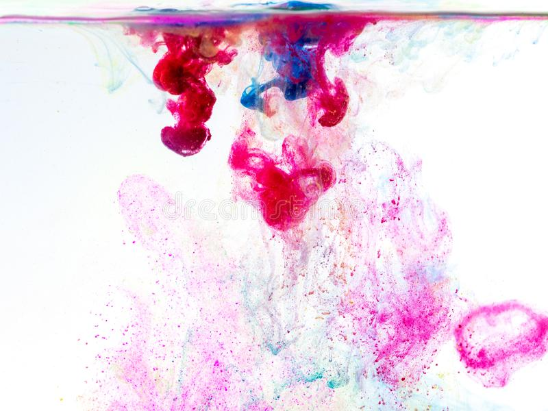 Poster color in water stock photo
