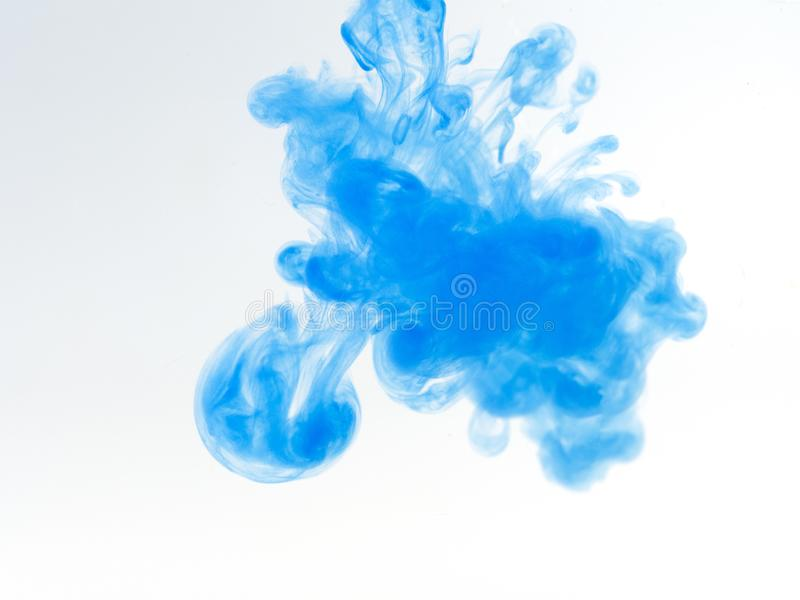 Poster color in water. Abstract background royalty free stock images