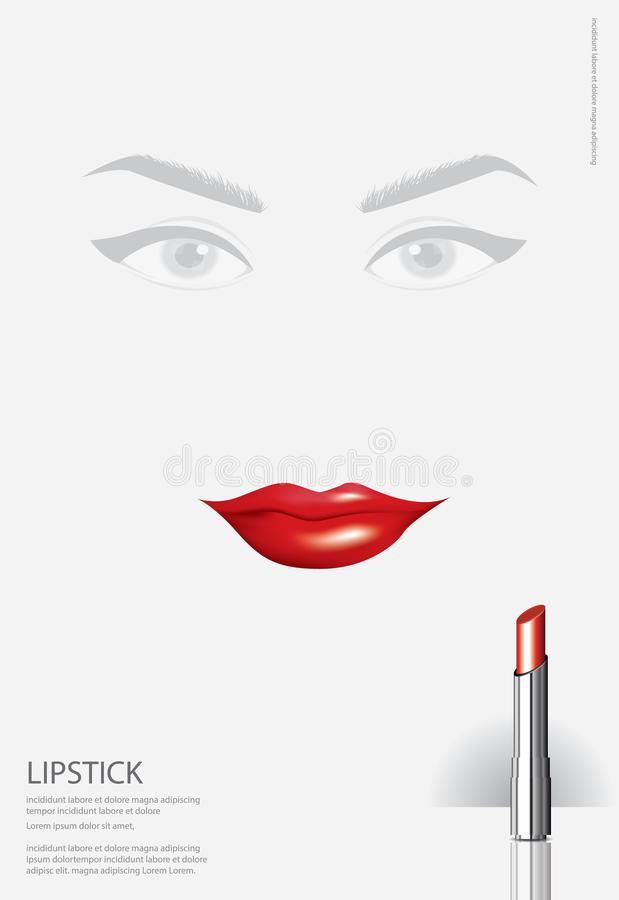 Poster Cosmetic Lipstick stock illustration