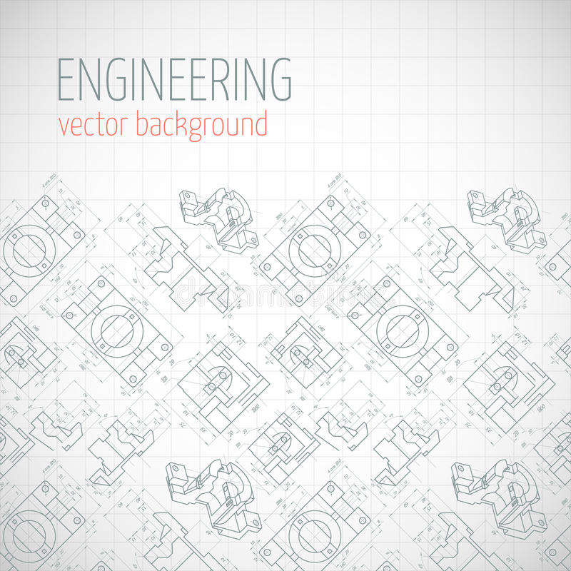 Poster  Cover  Banner  Background With Technical Drawing