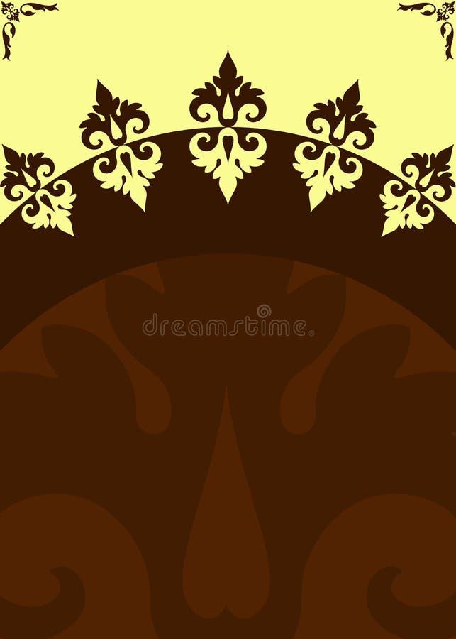 Poster cream brown header stock image