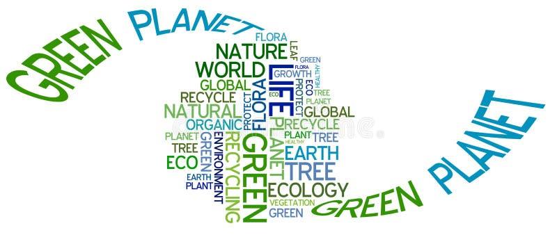 Poster da ecologia ilustração royalty free