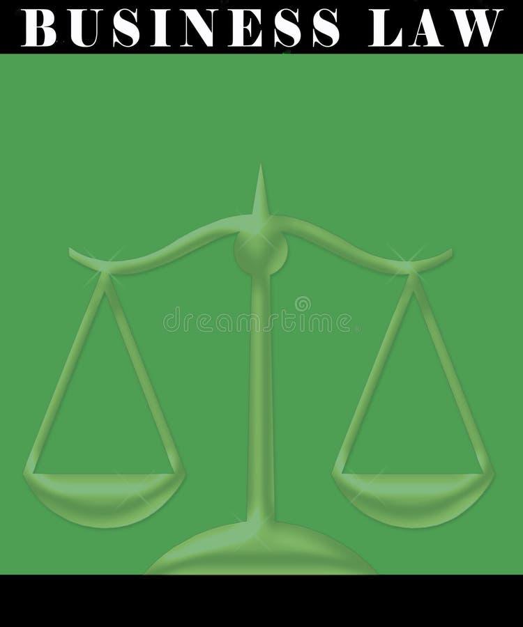 Poster da lei de negócio ilustração stock