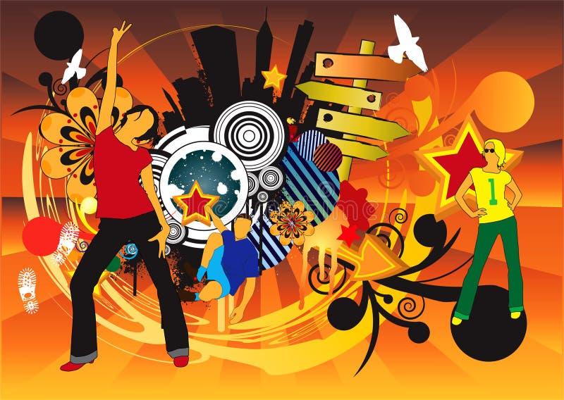 Poster da música ilustração royalty free