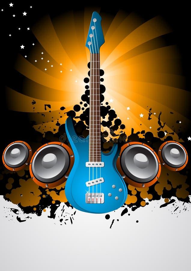 Poster da música ilustração do vetor