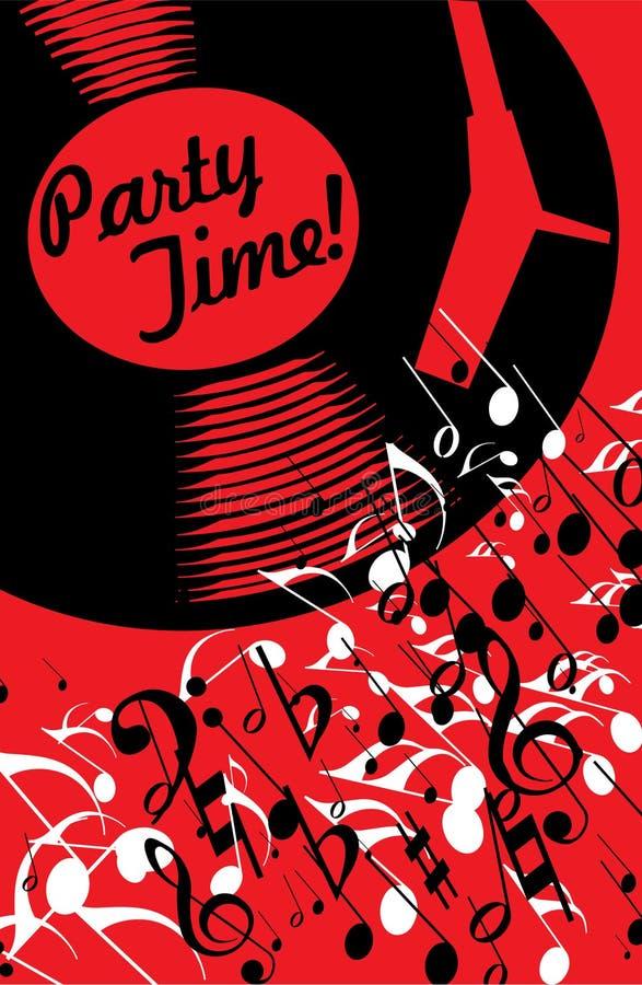 Poster da música ilustração stock