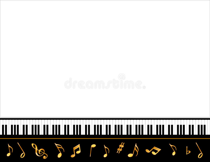 Poster da música do piano grande ilustração do vetor