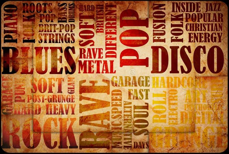 Poster da música rock ilustração do vetor
