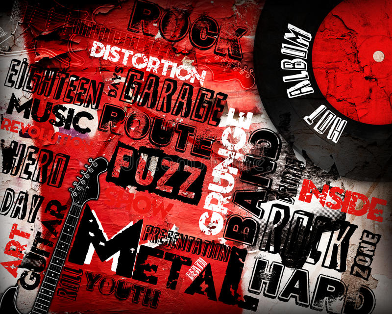Poster da música rock ilustração stock