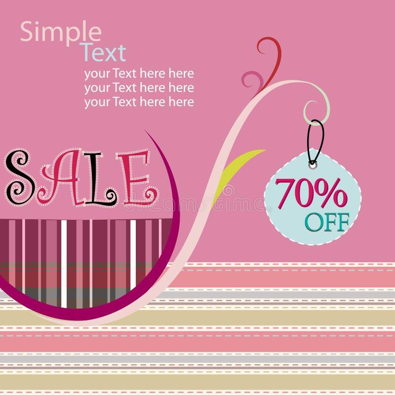 Poster da venda ilustração stock