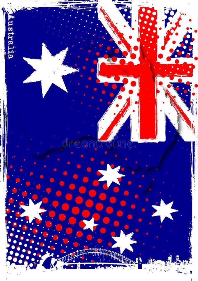 Poster de Austrália ilustração royalty free
