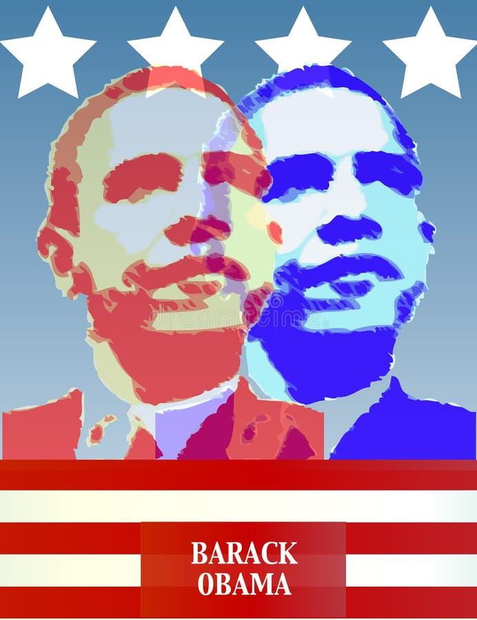 Poster de Barack Obama ilustração do vetor