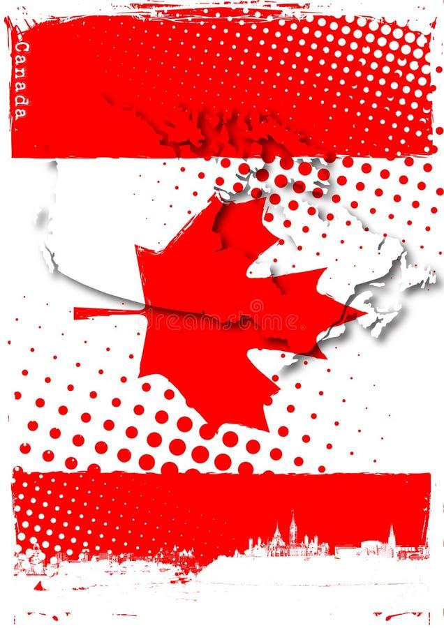 Poster de Canadá ilustração stock