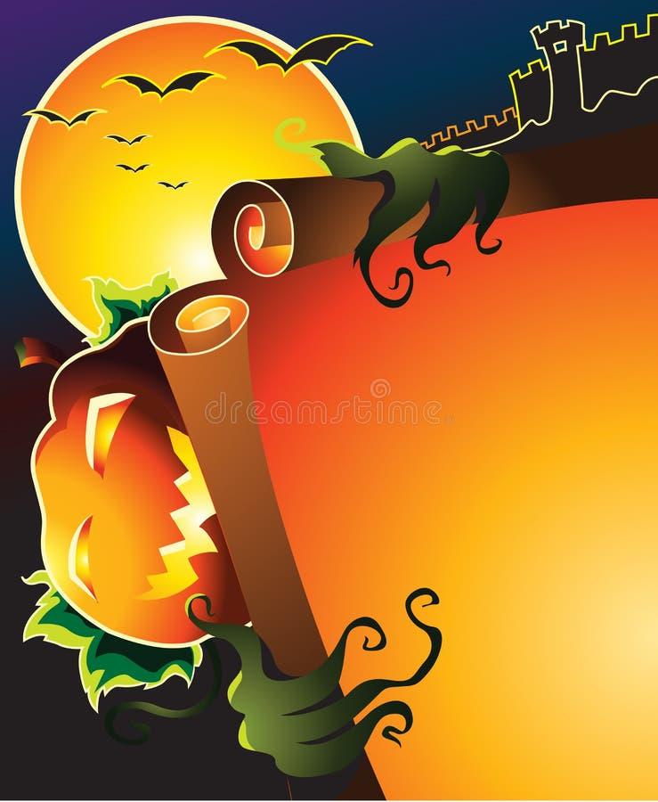 Poster de Halloween ilustração stock