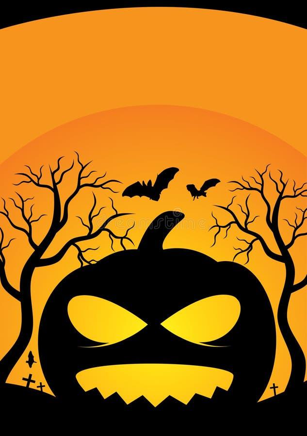 Poster de Halloween ilustração royalty free
