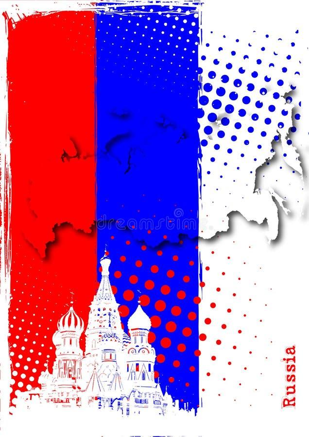 Poster de Rússia ilustração royalty free