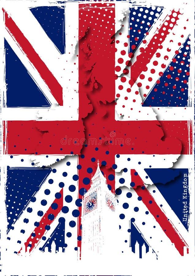 Poster de Reino Unido ilustração stock