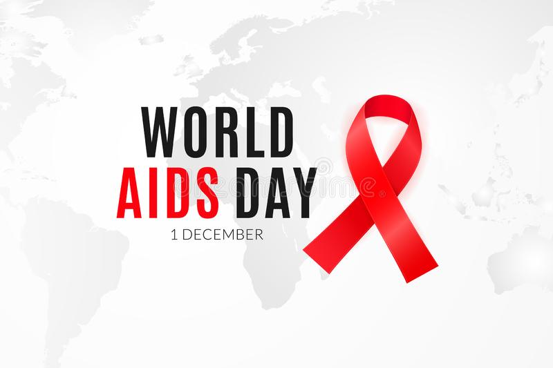 Poster design for the World AIDS Day and National HIV alertness campaign.  vector illustration