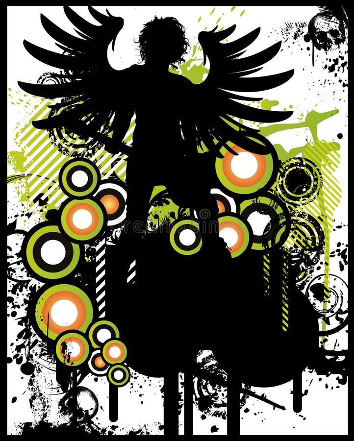 Poster do anjo da rocha ilustração royalty free