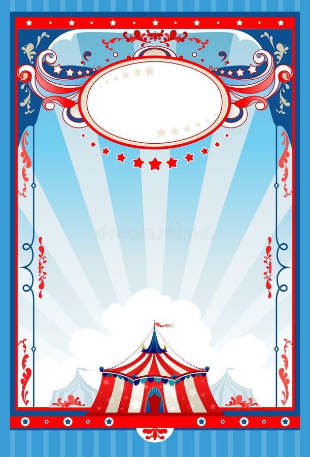 Poster do circo ilustração royalty free