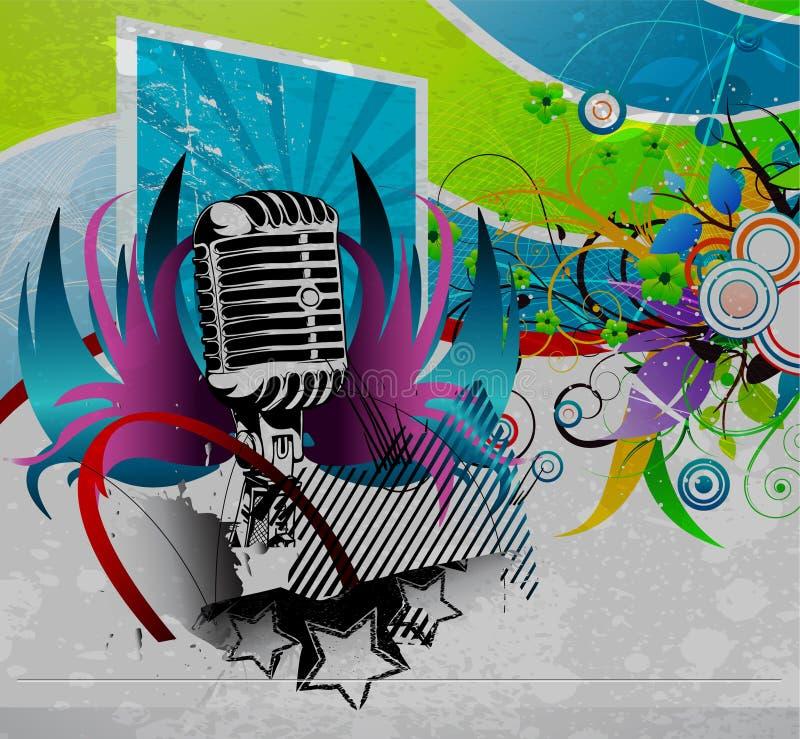 Poster do concerto de Grunge ilustração do vetor