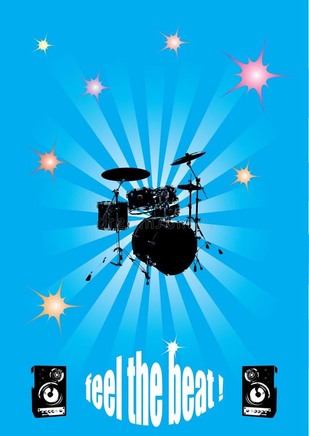 Poster do concerto de Grunge ilustração royalty free
