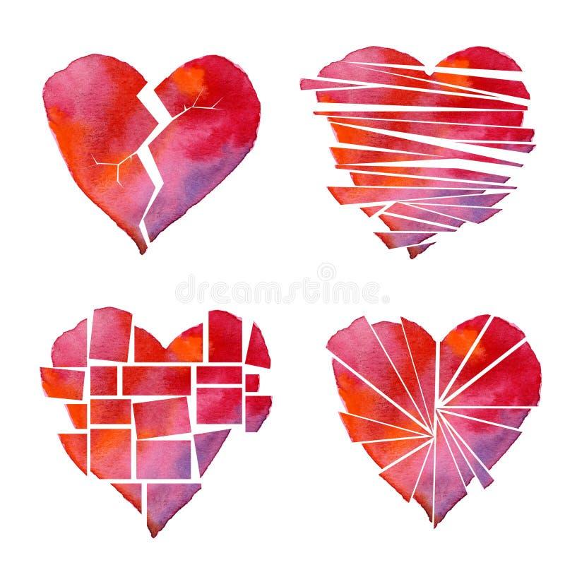 Poster do coração ilustração stock