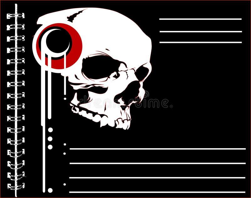Poster do crânio ilustração royalty free