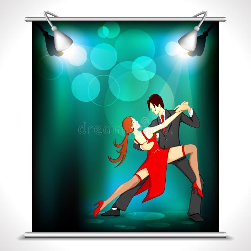 Poster do dançarino ilustração do vetor