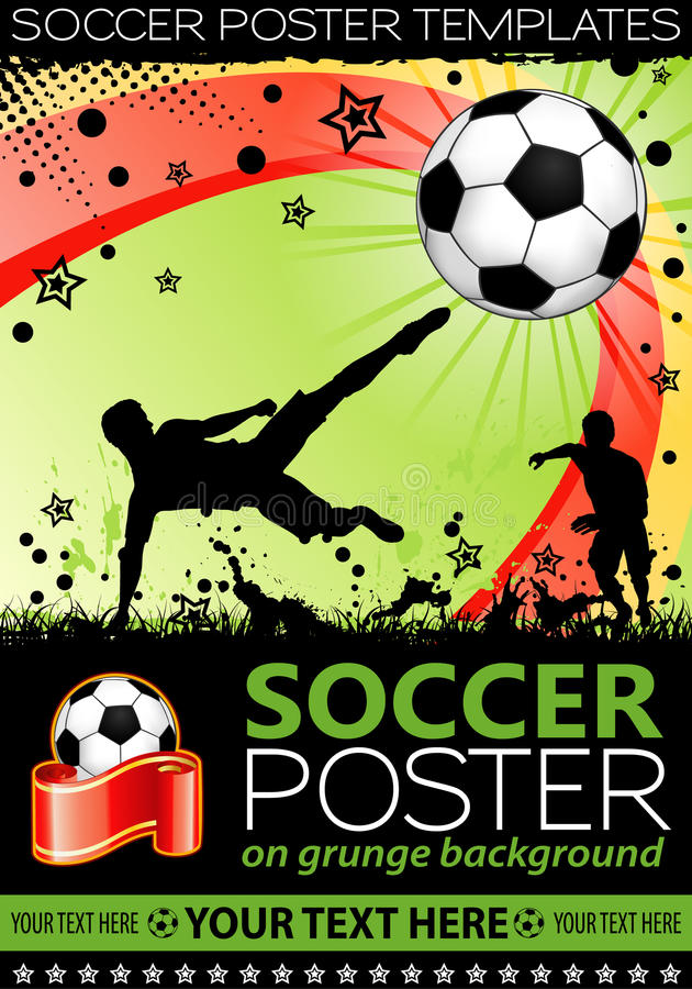 Poster do futebol ilustração stock
