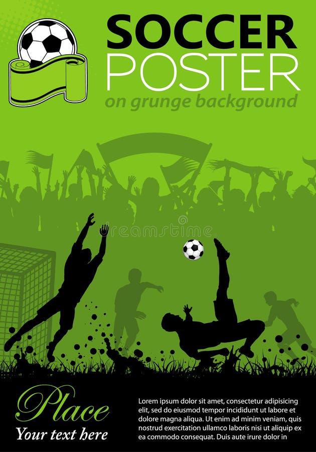 Poster do futebol ilustração royalty free