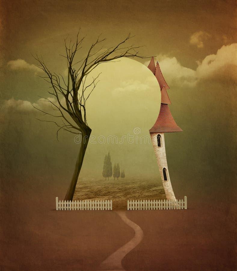 Poster do outono ilustração stock