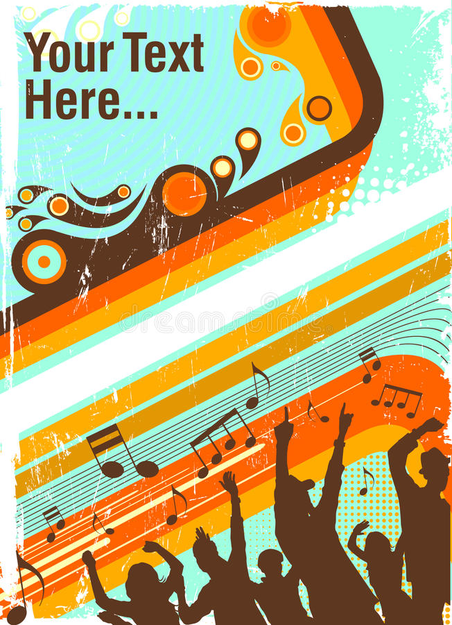 Poster do partido ilustração stock