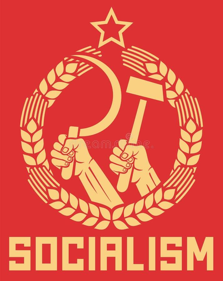 Poster do socialismo ilustração royalty free
