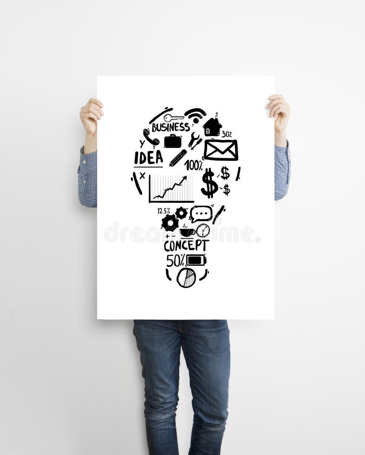 Download Poster With Drawing Lamp Stock Image. Image Of Making   35981303