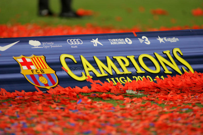 Download Poster Of FC Barcelona League Championship Editorial Stock Photo - Image: 20035928