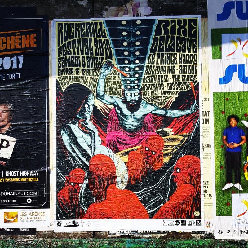 Poster festival stock photos