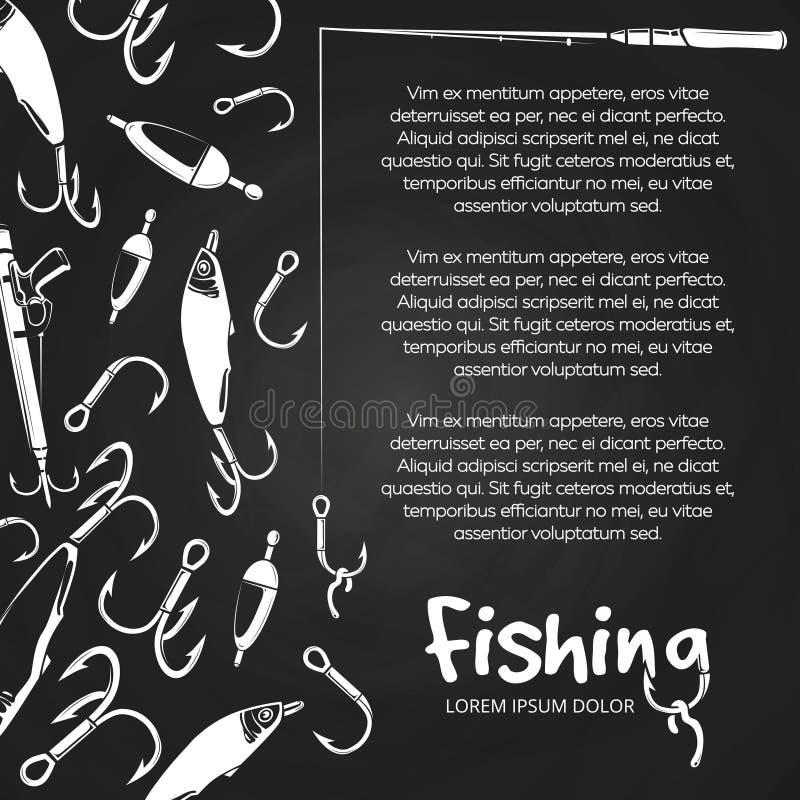 Poster fishing banner royalty free illustration