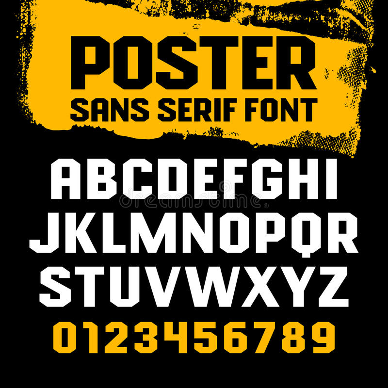 Poster font 001 stock illustration
