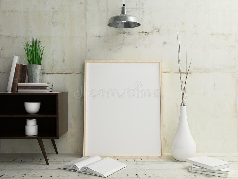 Poster Frame Mockup Interior vector illustration