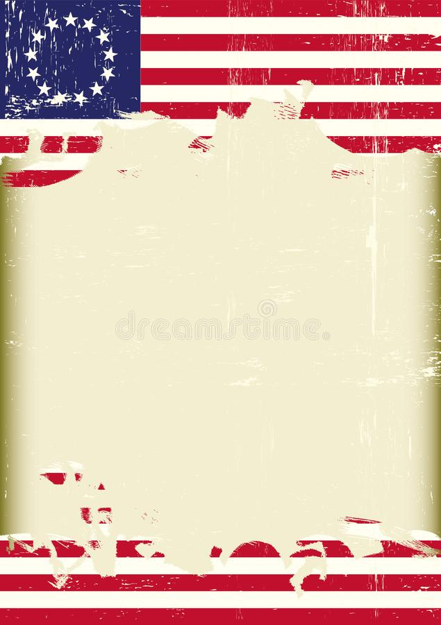 Grunge Grunge betsy ross flag royalty free stock images