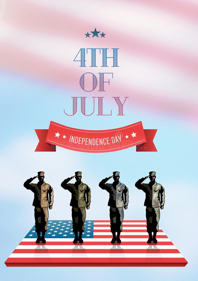 Poster of independence day royalty free stock image