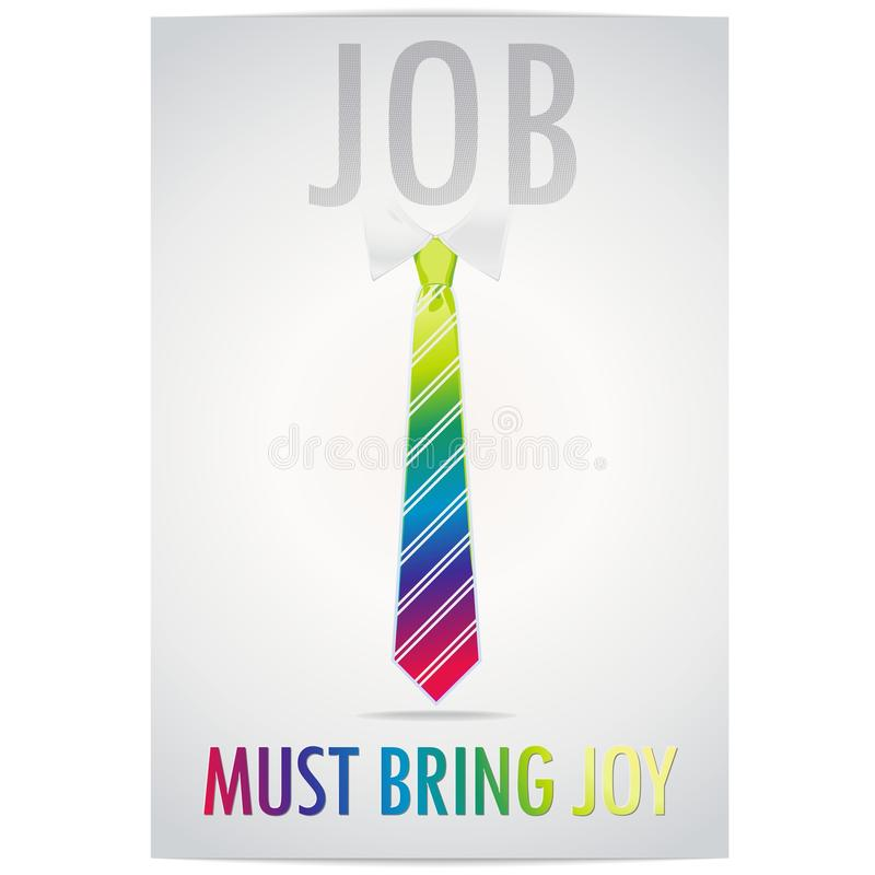 Poster Of Job Must Bring Joy With A Cheerful Rainb Stock Images