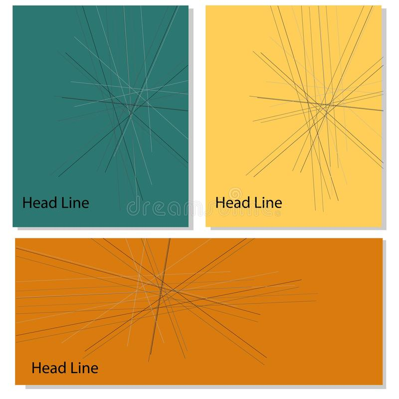 Poster with line abstract vector shapes baner design. vector illustration