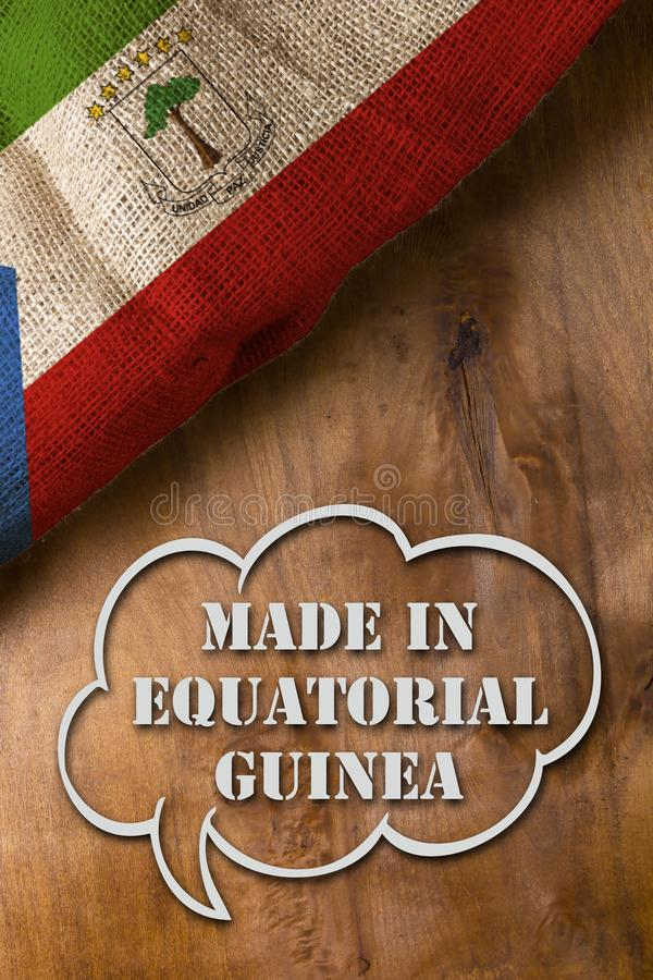 Poster made in Equatorial Guinea royalty free stock photo