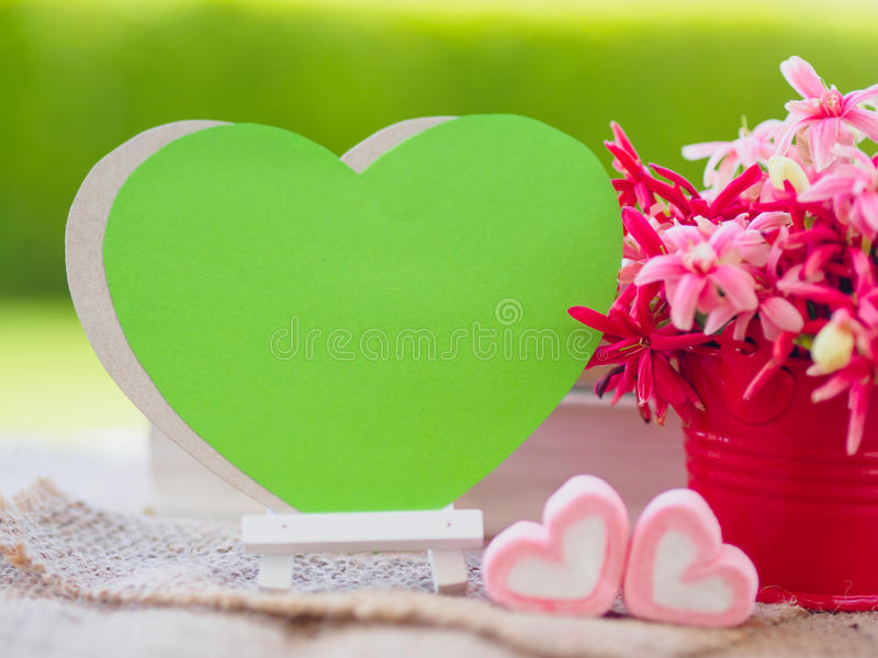 Poster mock up template with flower bouquet, royalty free stock photography
