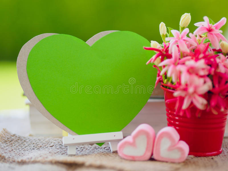 Poster mock up template with flower bouquet, stock images